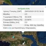 Σεισμός 2,5 Ρίχτερ στη Χαλκίδα