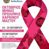 Ο Δήμος Χαλκιδέων συμμετέχει στην Παγκόσμια Ημέρα κατά του Καρκίνου του Μαστού