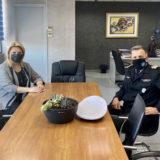 Εθιμοτυπική επίσκεψη του νέου Λιμενάρχη Χαλκίδας στη Δήμαρχο Χαλκιδέων
